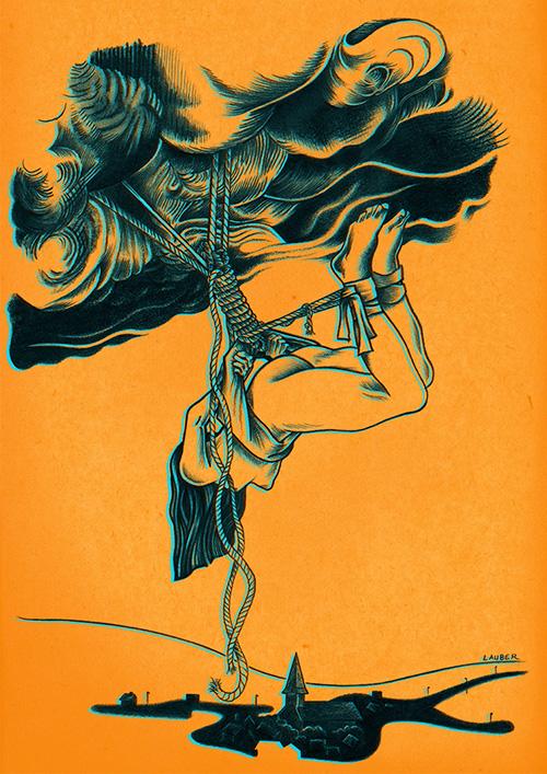Elle tombe des cordes par Julien Lauber